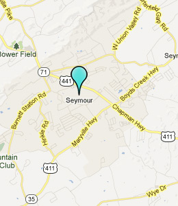 Map of Seymour, TN hotels