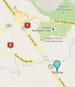 Map of Smyrna, TN hotels