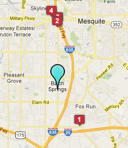 Map of Balch Springs, TX hotels