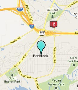 Map of Bonham, TX hotels
