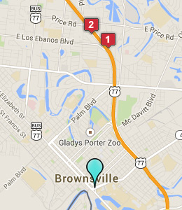 Map of Brownsville, TX hotels