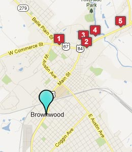 Map of Brownwood, TX hotels