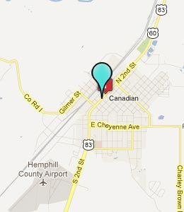 Map of Canadian, TX hotels