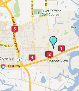 Map of Channelview, IN hotels