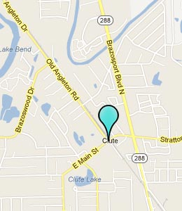 Map of Clute, TX hotels
