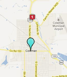 Map of Coleman, TX hotels