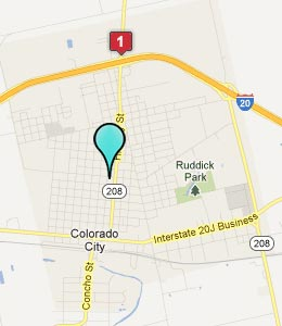 Map of Colorado City, TX hotels
