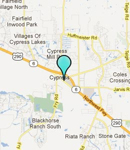 Map of Cypress, TX hotels