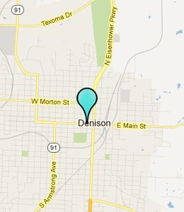 Map of Denison, TX hotels