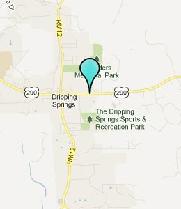 Map of Dripping Springs, TX hotels