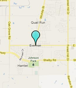 Map of Everman, TX hotels