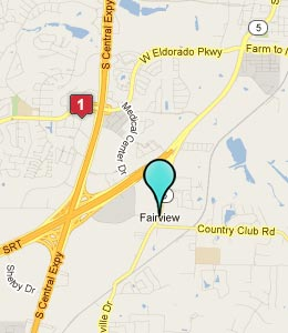 Map of Fairview, TX hotels