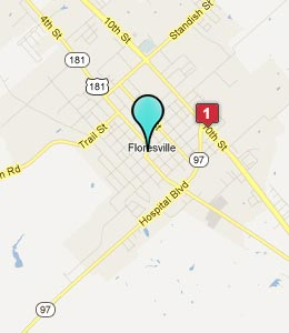 Map of Floresville, TX hotels