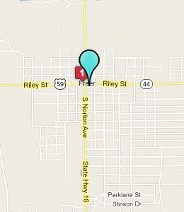 Map of Freer, TX hotels
