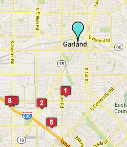 Map of Garland, IN hotels