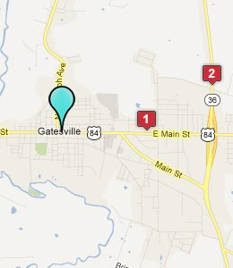 Map of Gatesville, TX hotels