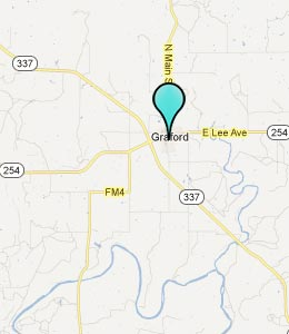 Map of Graford, TX hotels