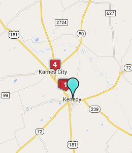 Map of Kenedy, TX hotels