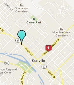 Map of Kerrville, TX hotels