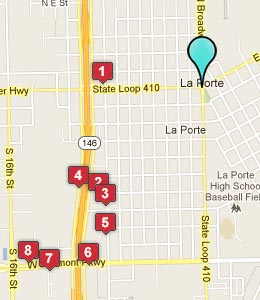 Map of La Porte, TX hotels
