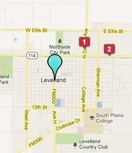 Map of Levelland, TX hotels
