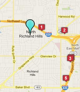 Map of North Richland Hills, TX hotels
