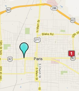 Paris texas hotels motels see all discounts for Paris hotel map