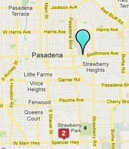 Map of Pasadena, TX hotels