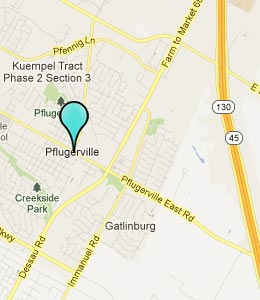 Map of Pflugerville, TX hotels