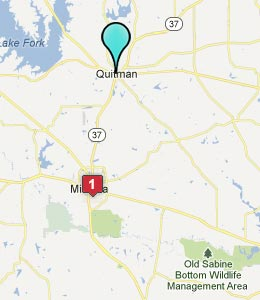 Map of Quitman, TX hotels