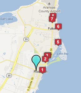 Map of Rockport, TX hotels