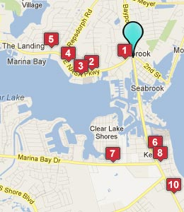 Map of Seabrook, TX hotels