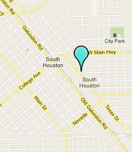 Map of South Houston, TX hotels