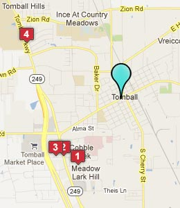 Map of Tomball, TX hotels