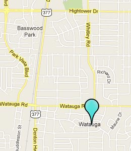 Map of Watauga, TX hotels