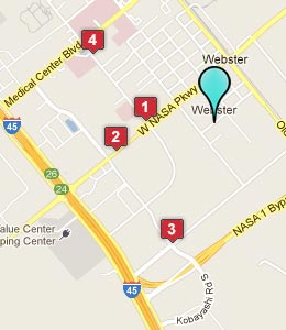 Map of Webster, TX hotels