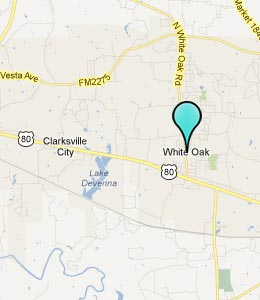 Map of White Oak, TX hotels
