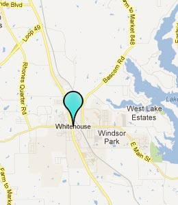 Map of Whitehouse, TX hotels