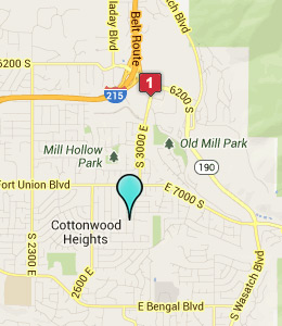 Map of Cottonwood Heights, UT hotels
