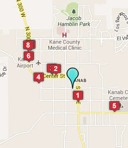 Map of Kanab, IN hotels