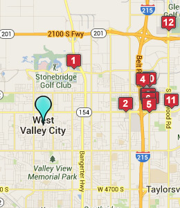 Map of West Valley City, IN hotels