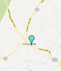 Map of Churchville, VA hotels