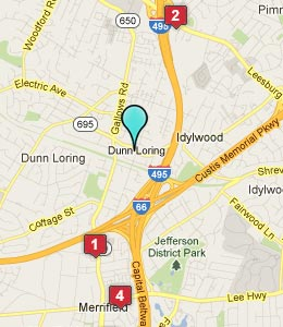 Map of Dunn Loring, VA hotels