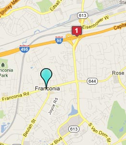 Map of Franconia, VA hotels
