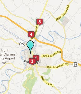 Map of Front Royal, VA hotels