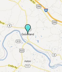 Map of Goochland, VA hotels