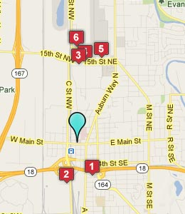 Map of Auburn, WA hotels