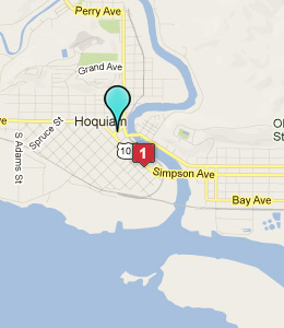 Map of Hoquiam, WA hotels