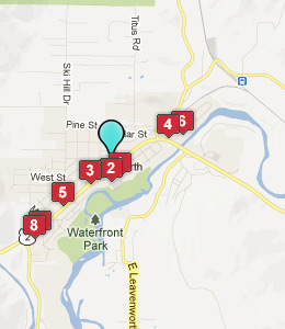 Map of Leavenworth, WA hotels