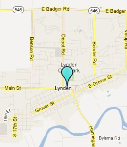 Map of Lynden, WA hotels